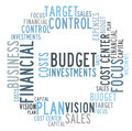 Budget control word cloud on white background Royalty Free Stock Photography