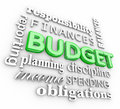 Budget 3d Word Collage Planning Finances Spending Saving Money