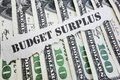 Budget Surplus concept Royalty Free Stock Photo