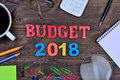 Budget 2018 on table Royalty Free Stock Photo