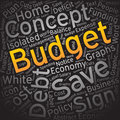 Budget,Word cloud art background