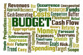 Budget word cloud on white background Stock Image