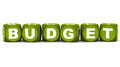 Budget word in green over white background concept of keeping expenses within Royalty Free Stock Image
