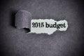 Budget word under torn black sugar paper Stock Image