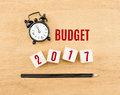 Budget 2017 Year On Wood Cube ...