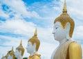 Budha stone in phichit thailand Royalty Free Stock Photos