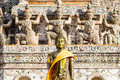 Budhist ancient in temple of thailand Royalty Free Stock Images