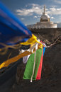 Budhist Shanti Stupa in Leh, Ladakh, India Royalty Free Stock Photo