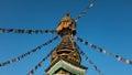 Budhist stupa photography of taken in swayambhunath temple monkey temple in kathmandu nepal Stock Images
