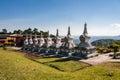 Budhist Stupas Khadro Ling Temple Stock Images