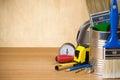 Budowy instrumenty ustawiający narzędzia Obrazy Royalty Free