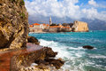 Budva bay fragment of coast near to town montenegro Royalty Free Stock Images