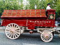 Budweiser Clydesdale wagon. Royalty Free Stock Photo