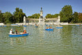 Buen Retiro Park, Madrid, Spain Royalty Free Stock Photography