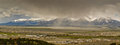 Buena vista colorado panoramic view of during a cloudy day Stock Image