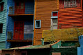 Buenos Aires, La Boca colourful neighbourhood Stock Photos