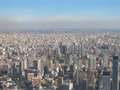 Buenos aires with smoke aerial photo panorama of argentina the city is among the most polluted in the world next to hong kong Stock Images
