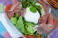 Bufala mozzarella salad Royalty Free Stock Photo