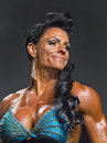 Buff and Curvy Physique Contestant in Vancouver Royalty Free Stock Photo