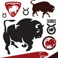 Buffalo bison taurus vector isolated signs zodiak Stock Photography