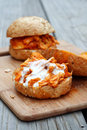Buffalo Chicken Sandwiches Royalty Free Stock Photos