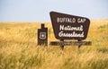 Buffalo Gap Forest Grassland Roadside Monument Sign South Dakota Royalty Free Stock Photo