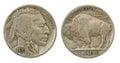 Buffalo Indian Head Nickel Royalty Free Stock Photo