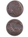 1920 Buffalo Nickel Royalty Free Stock Photo