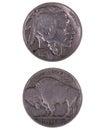 1929 Buffalo Nickel Royalty Free Stock Photo