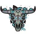 Buffalo skull cool sugar mexican vector illustration Royalty Free Stock Images
