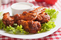 Buffalo style chicken wings Royalty Free Stock Photography