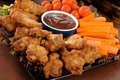 Buffalo wings snack tray Royalty Free Stock Images
