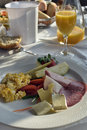 Buffet breakfast served Royalty Free Stock Photo