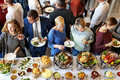 Buffet Catering Cafe Cuisine Culinary Meal Unity Concept Royalty Free Stock Photo