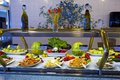 Buffet on a cruise ship salad section in Royalty Free Stock Photography