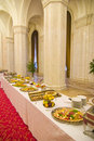 Buffet in hallway Stock Photography