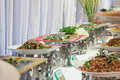 Buffet in party prepare for guest wedding Stock Photo