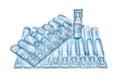 Bufus - plastic drop, ampoule, vial, spray. Royalty Free Stock Photo