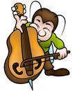 Bug and bass colored cartoon illustration vector Royalty Free Stock Photos