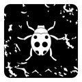 Bug icon, grunge style Royalty Free Stock Photo