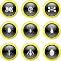 Bug icons Royalty Free Stock Photo