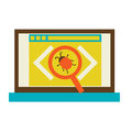 Bug in the programming code flat vector illustration eps Royalty Free Stock Photography