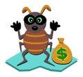 Bug Thief Caught Royalty Free Stock Photo