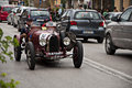 Bugatti t a grand prix mille miglia italy history vintage car retro Royalty Free Stock Photography