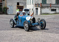 Bugatti t at mille miglia sansepolcro an old racing car of the runs in rally re enactment of the old italian endurance Royalty Free Stock Images