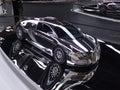 Bugatti veyron in chrome Royalty Free Stock Image