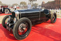Bugatti vintage retro sports car on display at red fort new delhi india february cabin dashboard of a the gun salute international Royalty Free Stock Image
