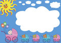 Buggies with big white cloud Stock Image