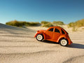 Buggy children s on the beach Stock Photography