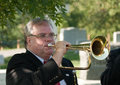 Bugler at Arlington Cemetery Stock Photos